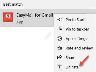 Result Easymail For Gmail Right Click Uninstall