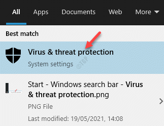 Result Virus & Threat Protection