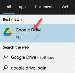 Result Left Click Google Drive