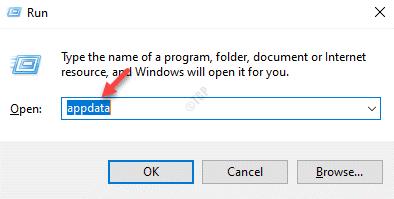 Run Command Appdata Enter