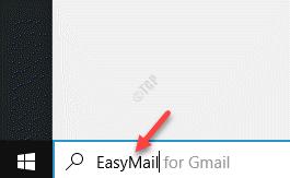 Start, Windows Search Easymail