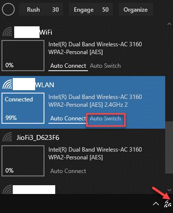 Taskbar Wifinian Icon Active Wifi Network Auto Switch