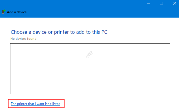 The Printer Is Not In List