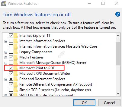 Tick Microsoft Print To Pdf