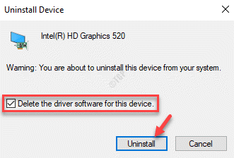 Uninstall Device Pop Up Delete The Driver Software For This Device Check Uninstall