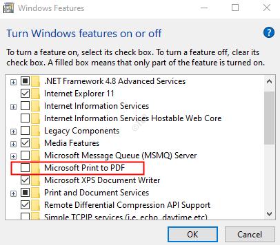 Untick Microsoft Print To Pdf