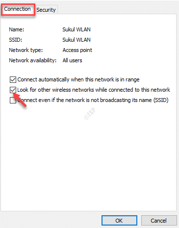 Wireless Network Properties Connections Look For Other Wireless Networks While Connected To This Network Check