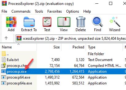 Zip Folder Procexp.exe Drag To Desktop