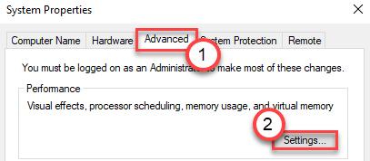 Advanced Settings Min