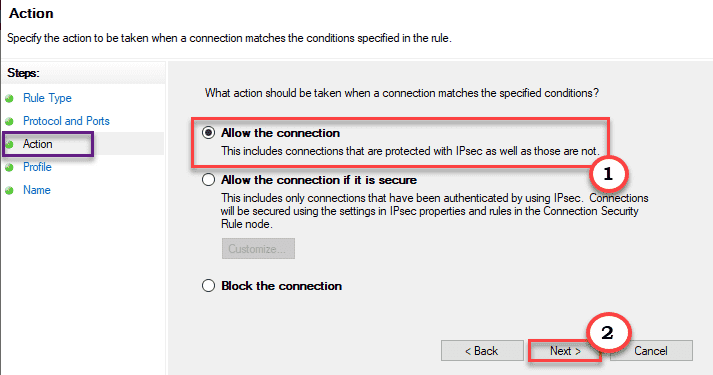 Allow The Connection Min