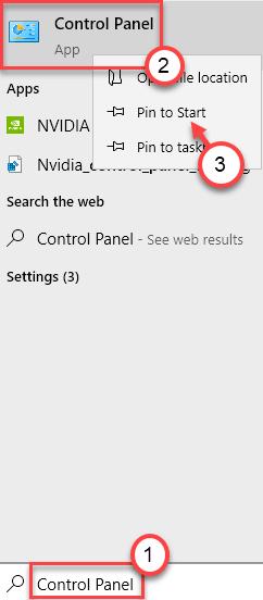 Control Panel Search Min