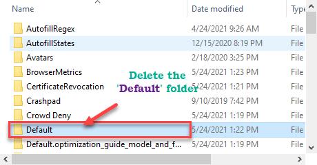 Delete Default Min