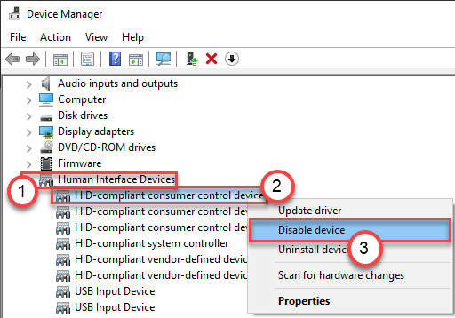 Disable Device Min
