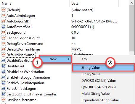 New String Value Min