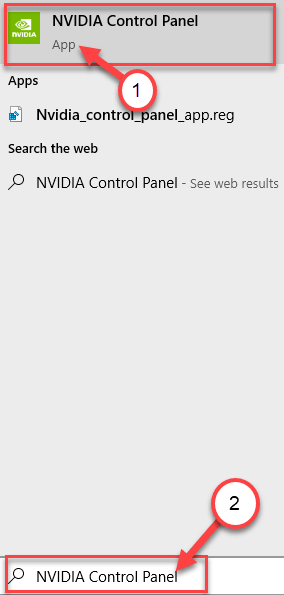 Nvidia Control Panel Search Min
