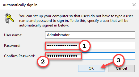 Password Confirm Ok Min