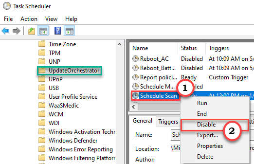 Schedule Scan Disable Min
