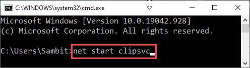 Start Clipsvc Cmd