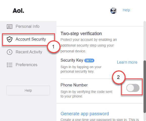 Two Step Verification Min