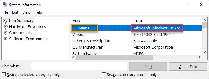 Windows 10 Pro Min