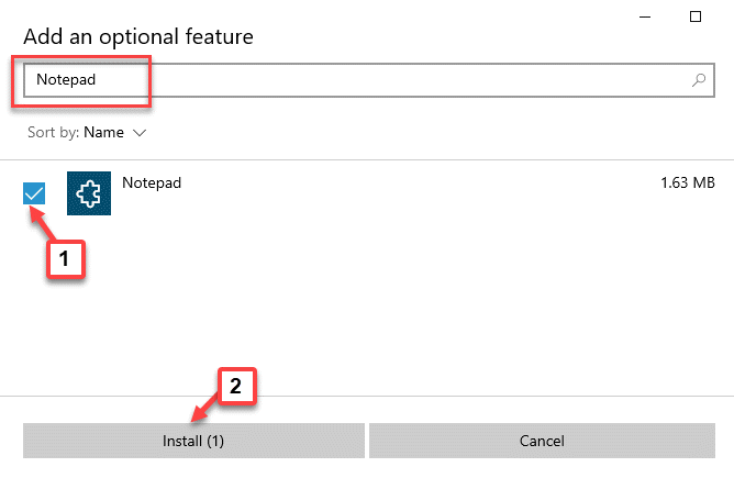 Add An Optional Feature Search Notepad Check Install