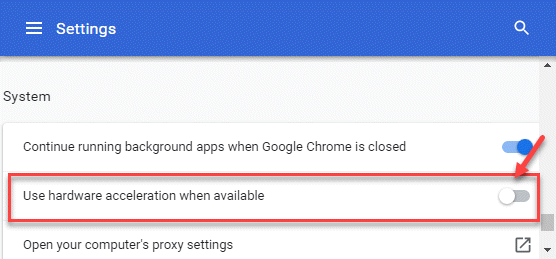 Chrome Settings Advanced System Use Hardware Acceleration When Available Turn Off