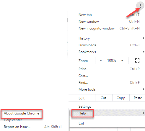 Chrome Settings Help About Google Chrome