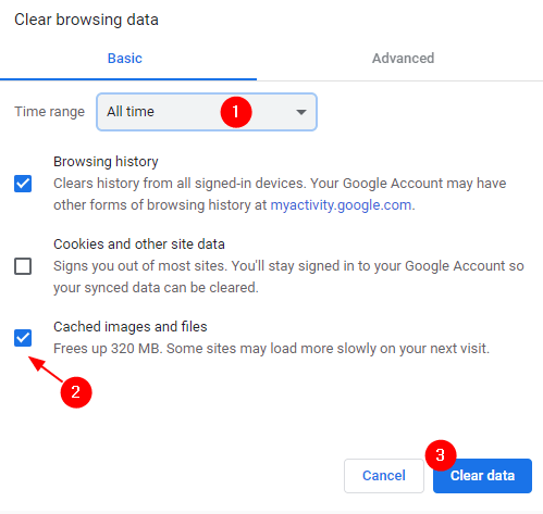 Clear Browser Data