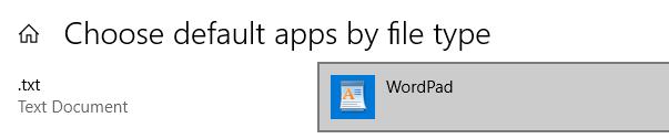 Click On Default Application