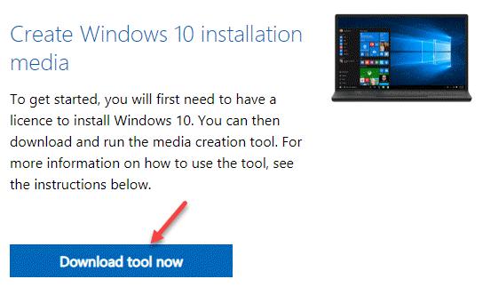 Create Windows 10 Installation Media Download Tool Now