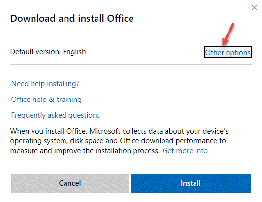 Download & Install Office Other Options