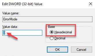 Edit Dword (32 Bit) Value Base Hexadecimal Value Data 0 Ok