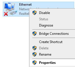 Ethernet Properties