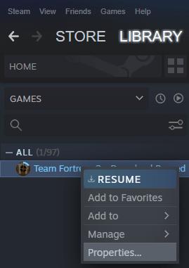 Game Properties Min