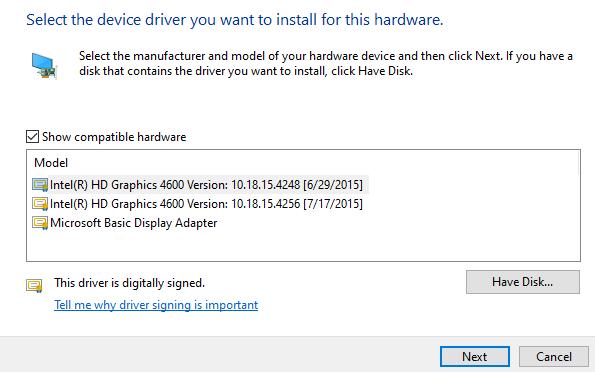 Install Display Adapter