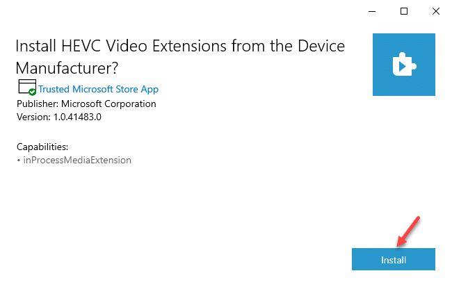 Install Hevc Video Extensions From The Device Manufacturer Install