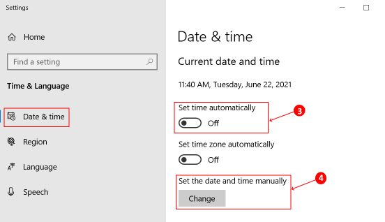 Ms Store Launch Error Toggle Date Time Min