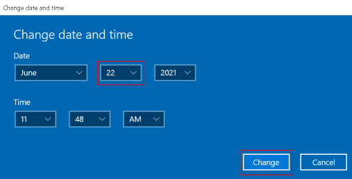 Ms Store Launch Error Change Date