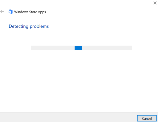 Ms Store Launch Error Detecting Problems