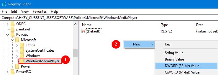 New Dword Within Windowsmediaplayer