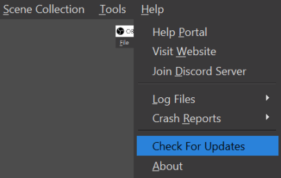 Obs Help Check Updates Min