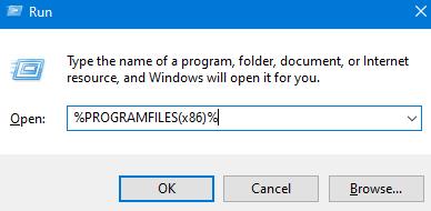 Programfiles In Run