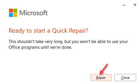 Ready To Start Quick Repair Repair