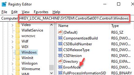 Registry Editor Navigate To Path Right Side Errormode