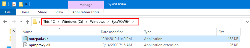 Syswow64 Notepad Location
