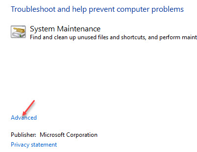 System Maintenance Advanced
