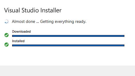 Visual Studio Instaling