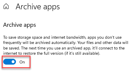 Archive Apps On Min