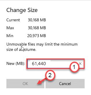 Change Size Min