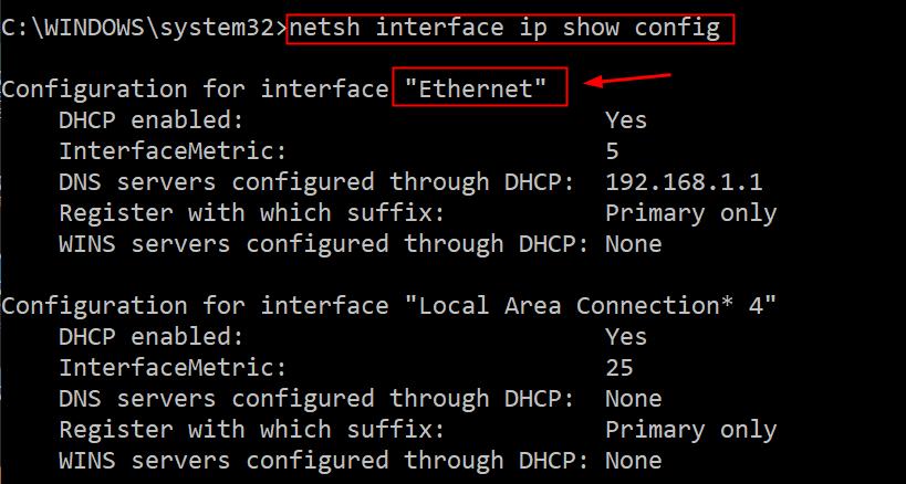 Ip Show Config Details Min